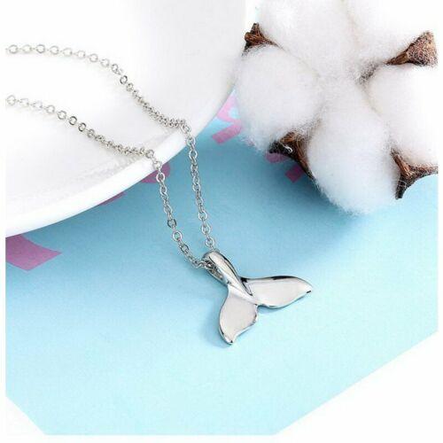 Charm Women Fashion Delicate Mermaid Fishtail Whale Tail Pendants Necklace Chain