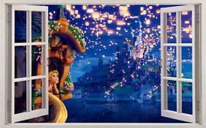 Disney Rapunzel Hundreds Of Lanterns 3d Window Wall