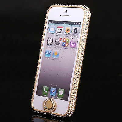 New Crystal Rhinestone Diamond Bling Metal Case Cover Bumper For iPhone 5 5S