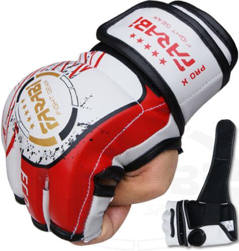 MMA Guanti Alle Prese Pugilato Punch Bag Combattere Cage MUAY THAI IN PELLE SINTETICA NUOVO