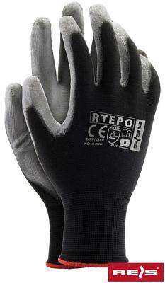 1 Paar Arbeitshandschuhe Montagehandschuhe Handschuhe Rtepo Pu Gr. 7-10 Farben Sind AuffäLlig