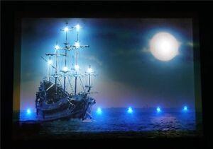 Das Bild Wird Geladen Schiff LED Leucht Bild Beleuchtung Wohnzimmer  Dekoration 45x65