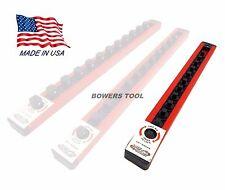 Mechanics Time Saver 1/4 in Drive Lock A Socket Rail Rack MTS USA Made 12 Clip