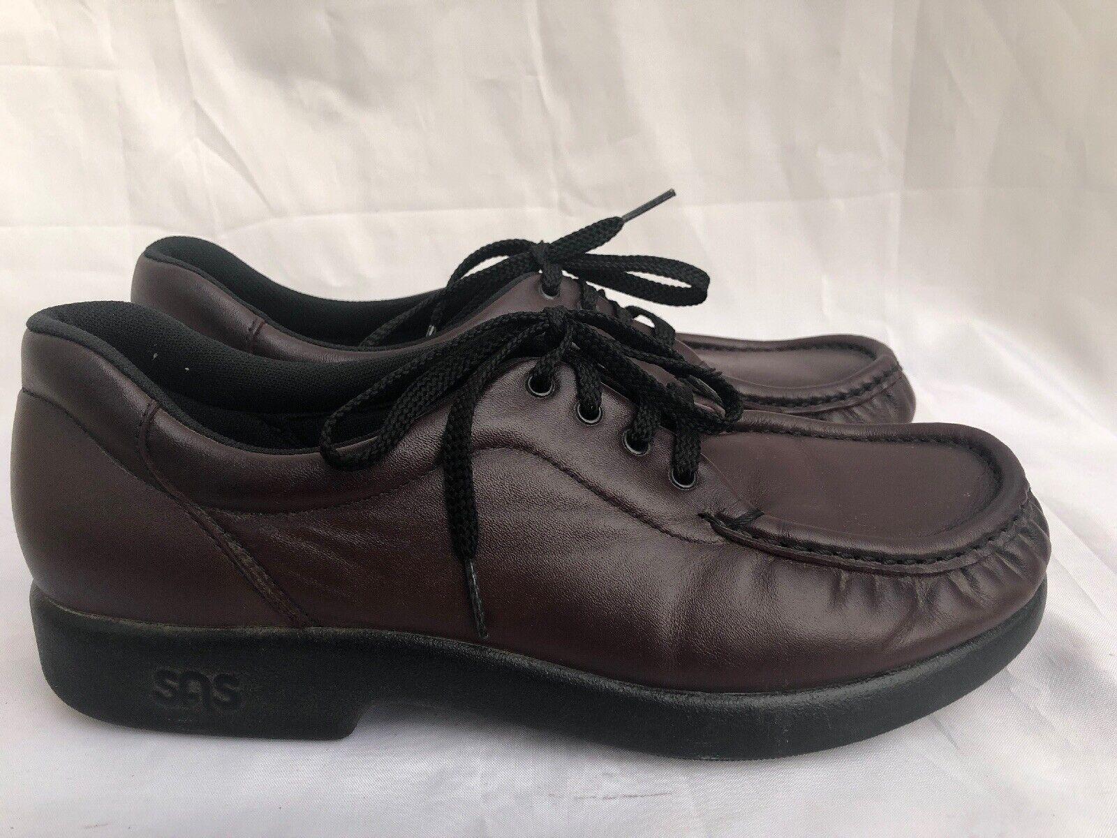 Sas Womans shoes Lace up Oxfords Dark Plum Leather Tripad Comfort  Size 9.5