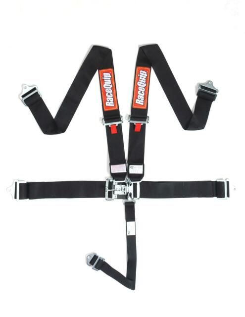 Racequip 711001 Black Sfi 5pt Latch  U0026 Link Racing Safety Harnesses Pair For Sale Online