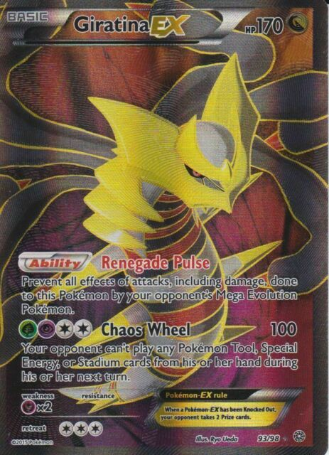 Pokemon Card Giratina Ex Full Art 93 98 Xy Ancient Origins Pokémon For Sale Online Ebay