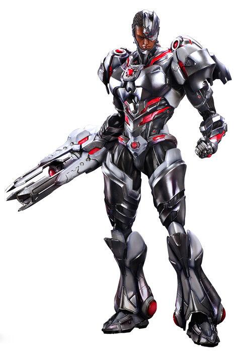 Dc comics variante cyborg p.a.k. spielen kunst kai actionfigur square enix