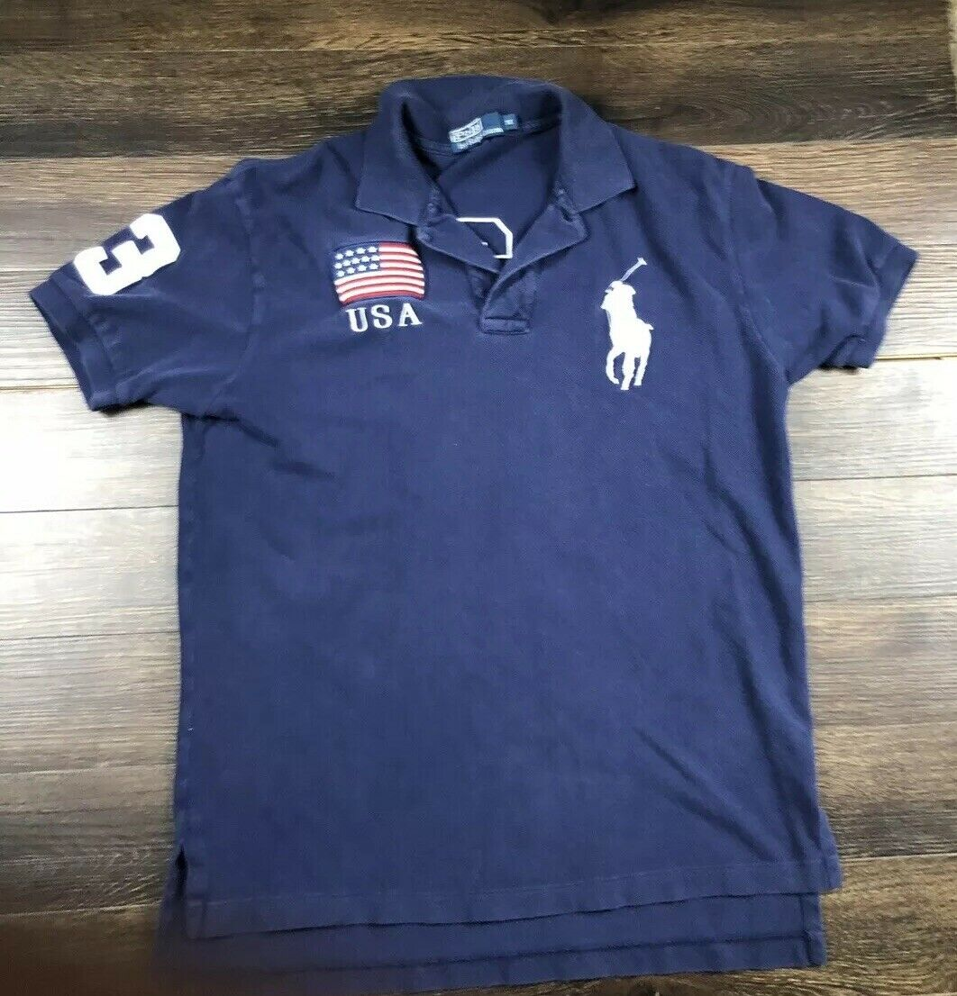 271e40a1 Ralph Lauren Mens Big Polo Rugby Polo Medium npltbt36-Casual Button-Down  Shirts. Men Polo Ralph Lauren Long Sleeves ...