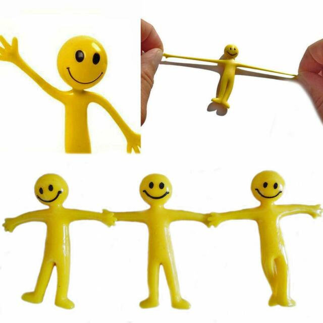 Fidget Toy! bend man Emoji smile face Party bag toy! 12 x Smiley Bendy Men