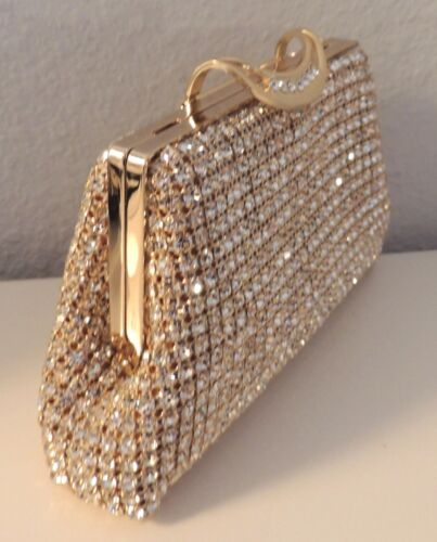 Clutch Handtas PurseGoud Nieuw Beaded Evening Crystal SGLqMVzpU