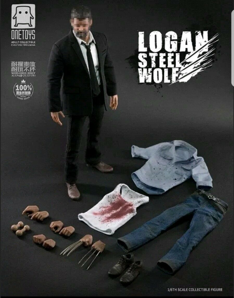 Worldbox   OneToys Steel Wolf Logan Fighting Version Sixth Scale Figure New