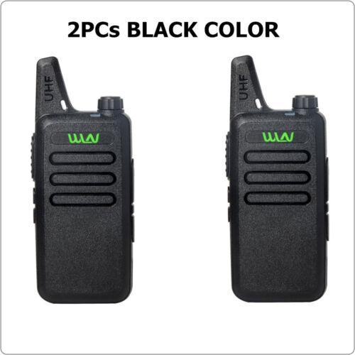 KD-C1 2Pcs Two Way Radio Walkie Talkie UHF 400-470 MHz Ham Radio Free Earpiece