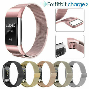 Replacement-Milanese-Sports-Stainless-Steel-Watch-Band-Strap-For-Fitbit-Charge-2