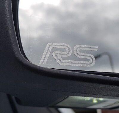 2x Quattro fenêtre Gravé Effet Autocollant Stickers Adhésif Premium TT RS A3