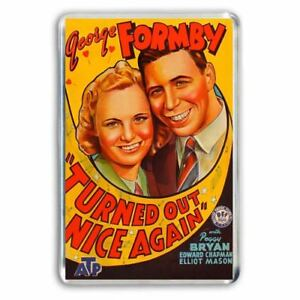 RETRO-GEORGE-FORMBY-TURNED-OUT-NICE-AGAIN-MOVIE-POSTER-ART-JUMBO-FRIDGE-MAGNET