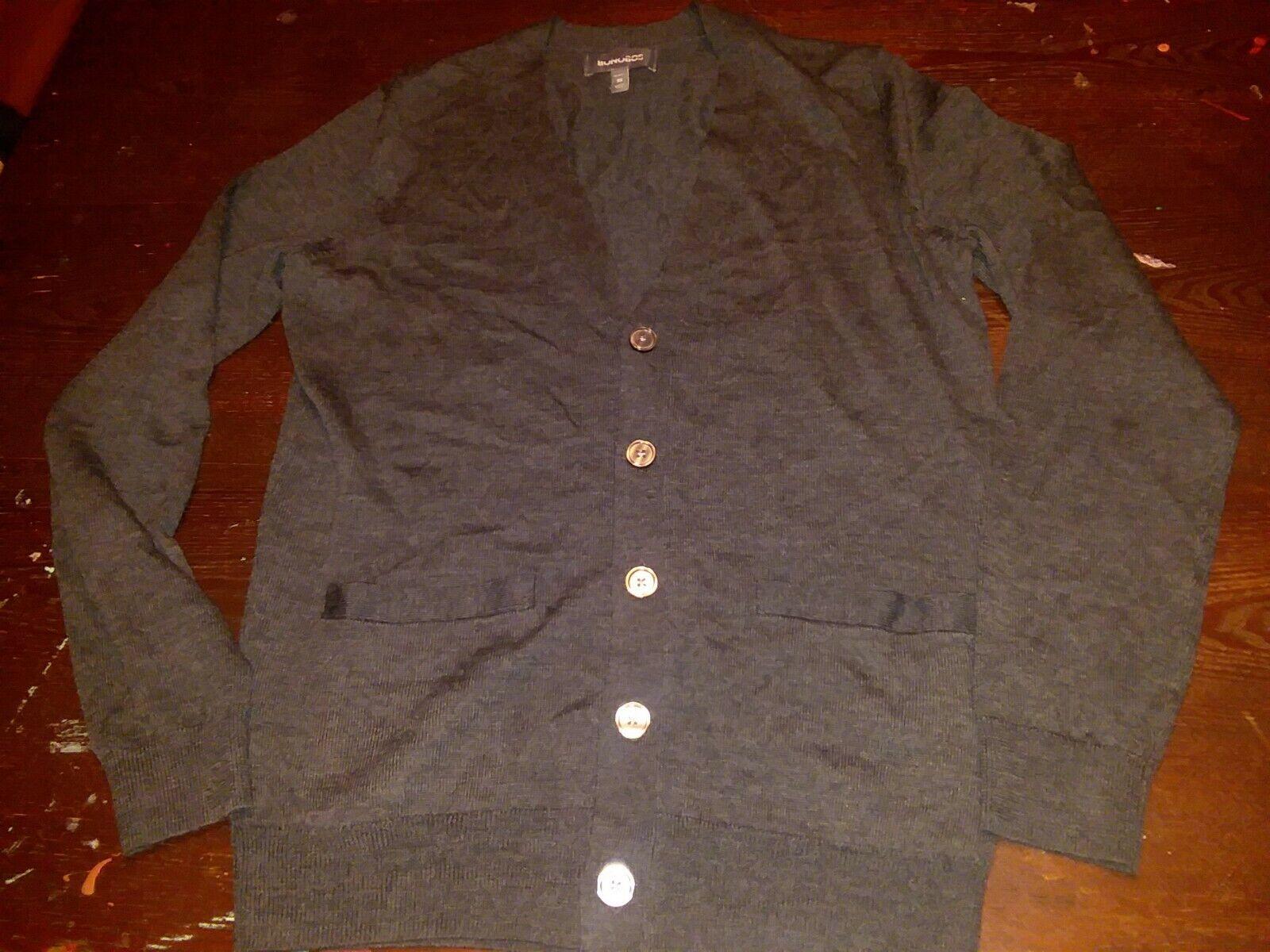NEW BONOBOS Fine Merino Wool Grey Cardigan Sweater Size XS  slim fit