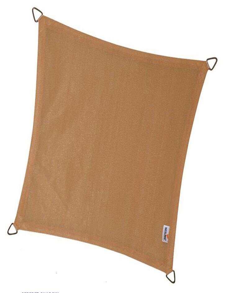 Nesling Coolfit Sonnensegel Sonnenschutz wasserdurchlässig 3 x 4 m Rechteck Sand
