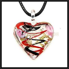 2016 New Love lampwork Murano art glass beaded pendant necklace BB45