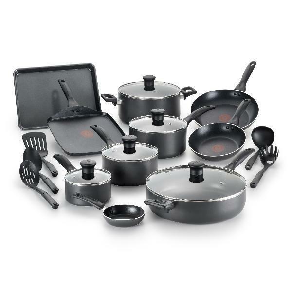 Batterie de cuisine 20 Pieces Set T-Fal Pots casseroles Ustensiles antiadhésif cuisson ensembles Cook Thermo