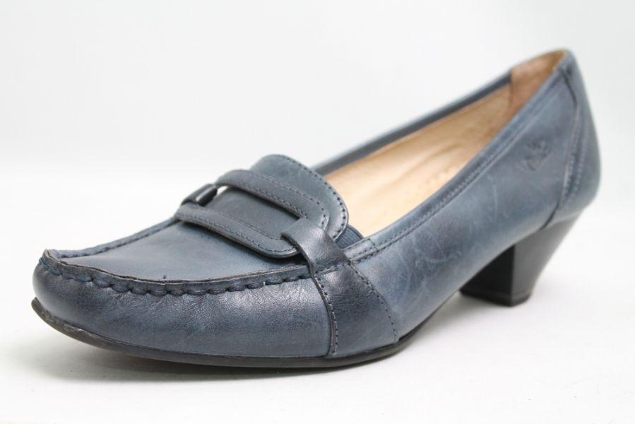 Caprice Escarpins Bleu Cuir Chaussures Large G taille 41 (UK 7)