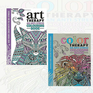 The Art Therapy Colouring Book,Color Therapy Collection 2 Books Set ...