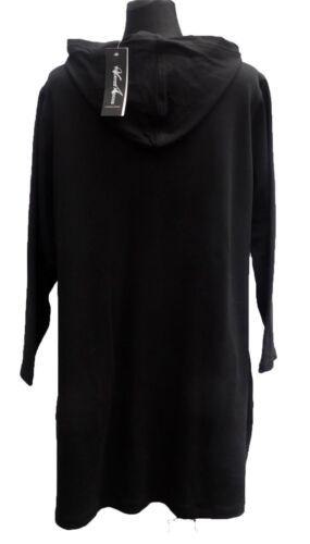 Veste Femmes LONGJACKE Shirt Veste Capuche Cotton noir perles taille 52-54 56-58