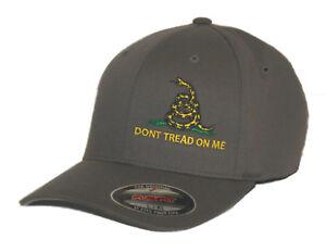 1bfecb94864 DON T TREAD ON ME HAT FLEXFIT FITTED CAP GADSDEN FLAG S M L XL XL ...