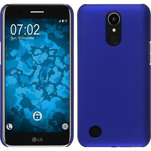 Coque-Rigide-LG-K10-2017-gommee-bleu-films-de-protection