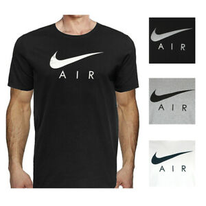 Nike-Air-Men-039-s-Short-Sleeve-Swoosh-Logo-Graphic-Active-T-Shirt