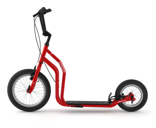 Yedoo City Scooter RunRun Tretroller Cityroller 16 12 Zoll Offroadreifen rot