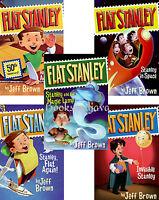 Flat Stanley Set Collection 5 Book Set By Jeff Brown - Original Adventure ++