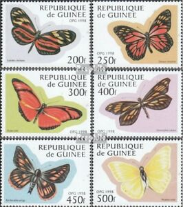 Never Hinged 1998 Butterflies Stamps Topical Stamps Straightforward Guinea 1716-1721 Unmounted Mint