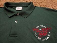 Men's WALMART Wal-Mart Always Super Center Uniform Work Golf Polo Shirt 3XL