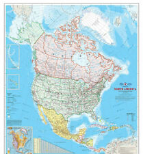 North American Map (English Version)   7.5' x 8.5' (2,29m x 2,59m)-Wall Mural