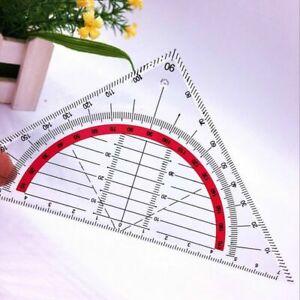 Geodreieck-unzerbrechlich-Geometrie-Lineal-flexibel-Schule-Buero-Ruler-flexi-C0Q1
