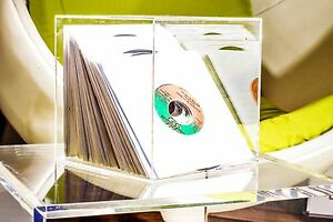 Acryl Design Cube 20cm Wand Platten Cd Dvd Sammler Regal Vitrine