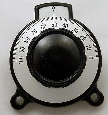 Precision Tuning Vernier Dial Control Knob Calibrated 0-100 Velvet Ham Radio