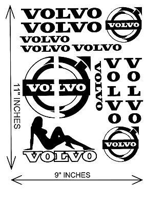 VOLVO TRUCKS  EMBLEM LOGO OLD SCHOOL DECAL X2  FH12 FH16 FM GLOBETROTTER