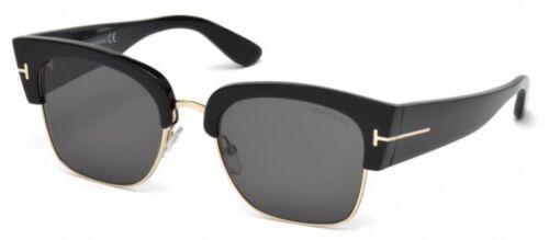BRAND-NEW AUTHENTIC Black//Gold TF554 Color01A TOM FORD SUNGLASSES Dakota Model