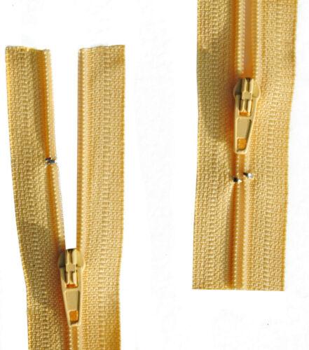Reißverschluss für Bettwäsche 1 Weg Gelb schließbare Länge 30-200 cm