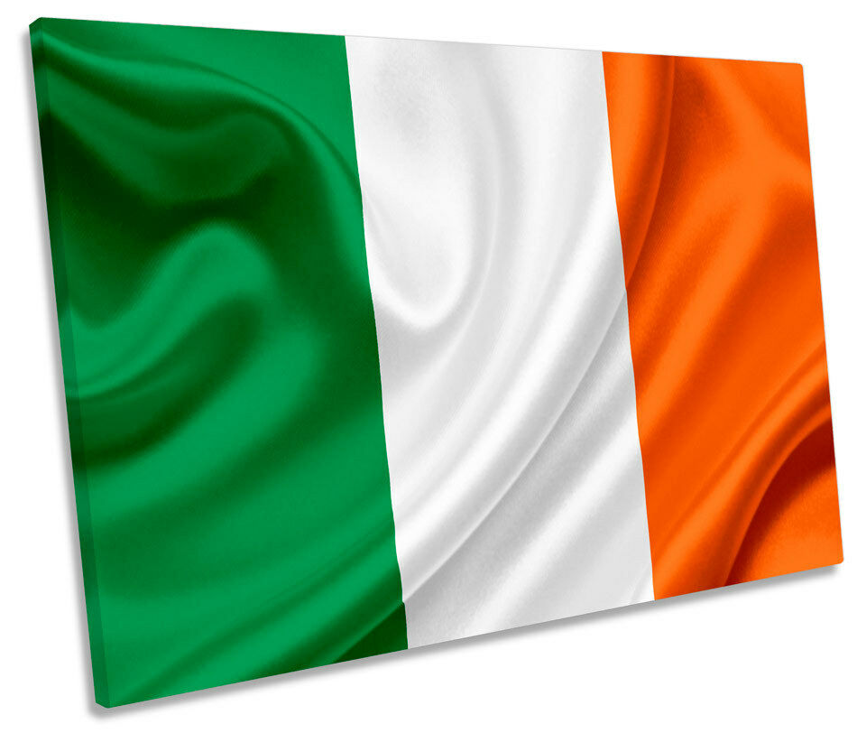Irish National Flag Ireland SINGLE CANVAS WALL ART Box Framed