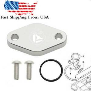 For BMW E46 E60 E85 Z3 Z4 X3 X5 Secondary Air Pump EGR Block Off Plate Kit CNC