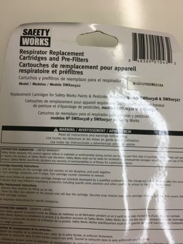 SAFETY WORKS REPLACEMENT FILTER CARTRIDGES SWX00322