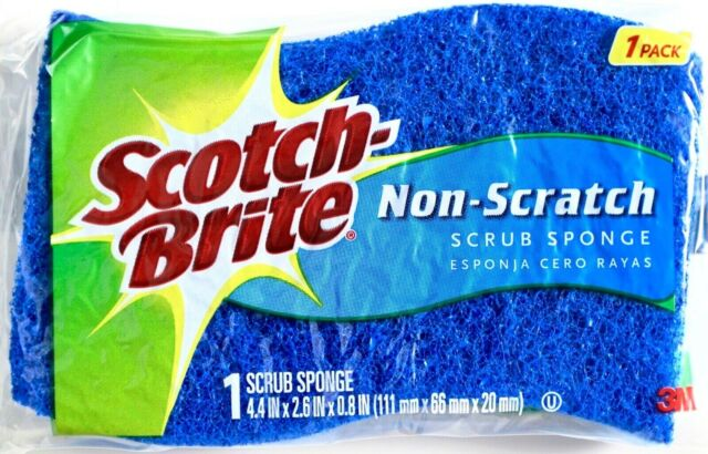 6 Cleaning Non-scratch Scrub Sponges//pads Made in Israel Classic
