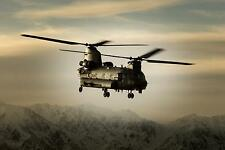 RAF Royal Air Force Chinook Helicopter Afghanistan 12x8 Inch Photograph