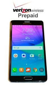 Details about Unlocked Samsung Galaxy Note 4 32GB- No Contract Verizon  Prepaid Phone with SIM