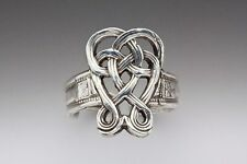 SILVER SPOON CELTIC SPOON RING SILVERWARE PATTERN CELTIC KNOT SILVER PLATED