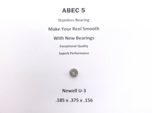 Newell Reel Part G 235-F U-3 ABEC 5 Stainless Bearing .125 x .375 x .156 #18