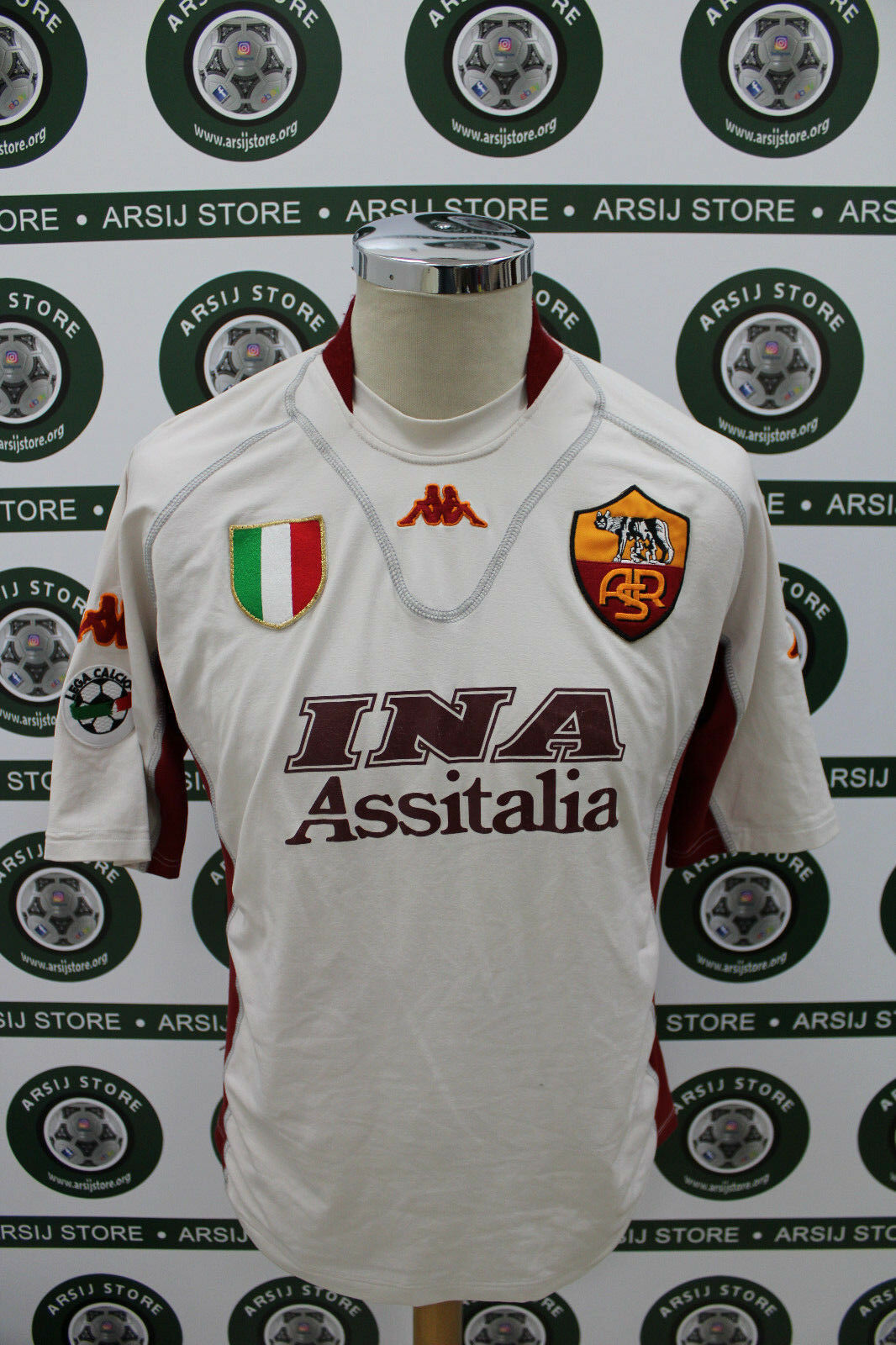 Maglia calcio shirt maillot camiseta trikot ROMA EMERSON TG M 2001 02