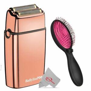 BaByliss PRO FOILFX02 Cordless Metal Double Foil Shaver + Pink Wet Brush
